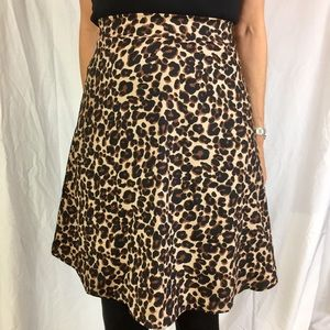 Flirty Cheetah/ animal print a line skirt